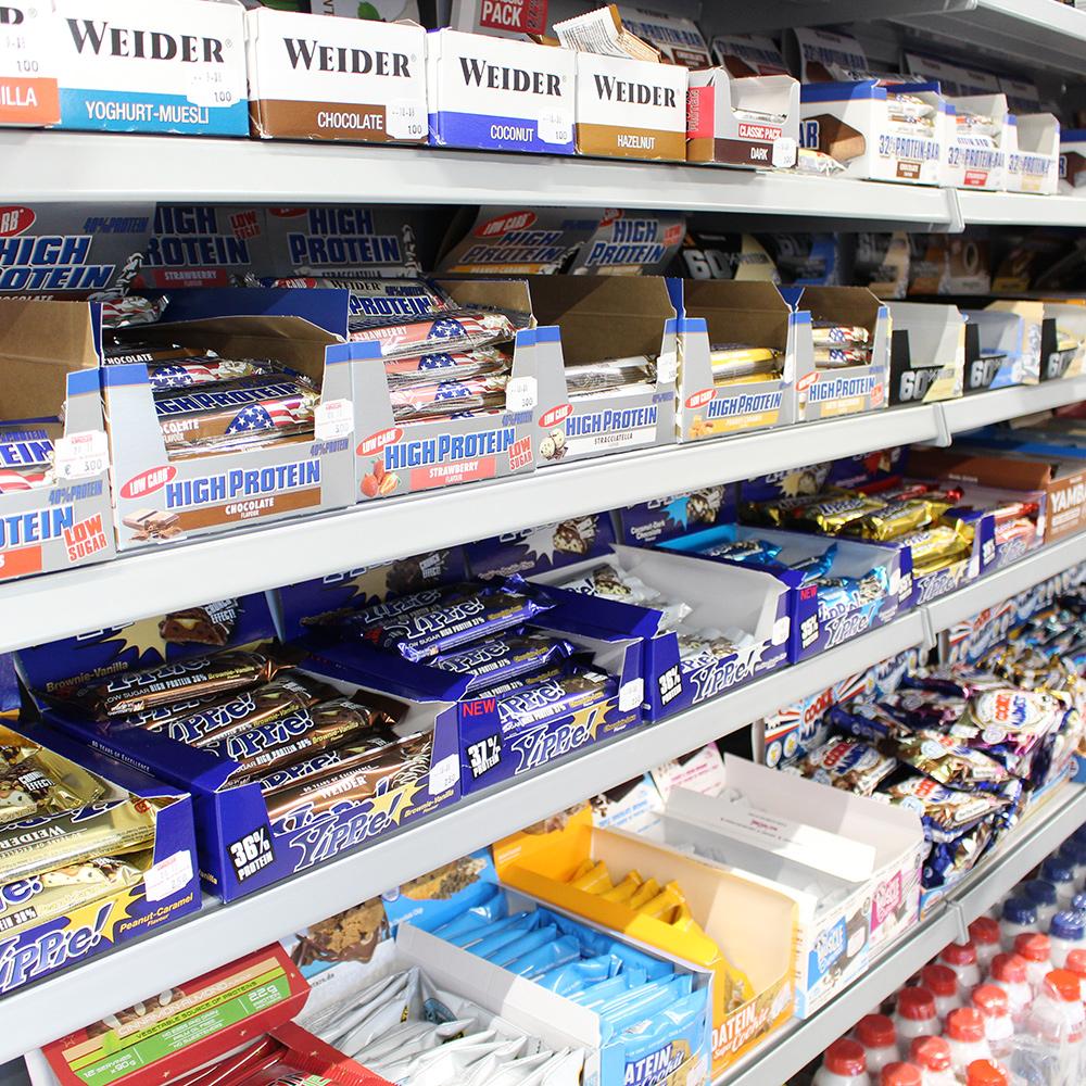 Fitness Riegel und Snacks